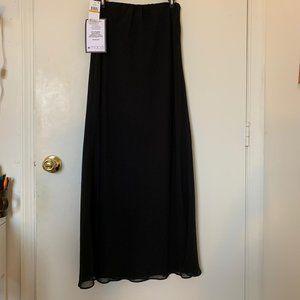 Alex Evenings Black Long Maxi Formal Skirt -NWT-Sm